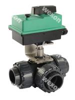 Моторизированный клапан Compact Pro 3/2 Трёхходовой шаровый кран PVC (в сборе с прив.)