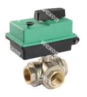 Моторизированный клапан Compact Pro 3/2 Трёхходовой шаровый кран (в сборе с приводом)