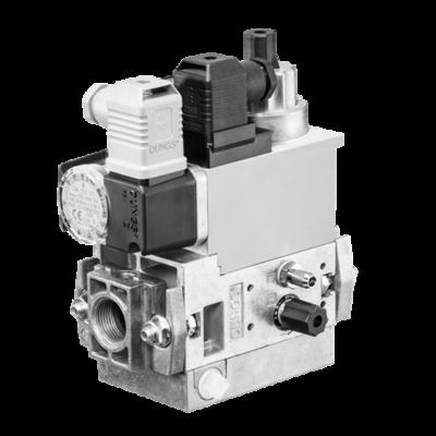 MB-D(LE) 407-412 B07: GasMultiBloc® (газовый мультиблок), модуль регулирования и безопасности, одноступенчатый режим эксплуатации, встроенный байпасный клапан