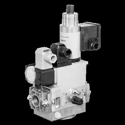MB-ZRD(LE) 405-412 B07: GasMultiBloc® (газовый мультиблок), модуль регулирования и безопасности, двухступенчатый режим эксплуатации, встроенный байпасный клапан