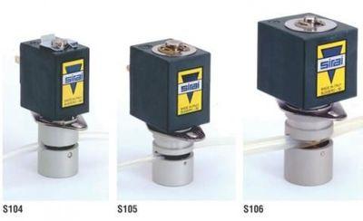 Sirai S104; S105; S106 Пережимной клапан Нормальнозакрытый для стерильных сред трубка 1,65...9,50 мм