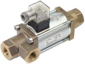 Asco Numatics 387 Коаксиальный электроклапан для вязких и абразивных жидкостей до 40 bar Переключение потоков